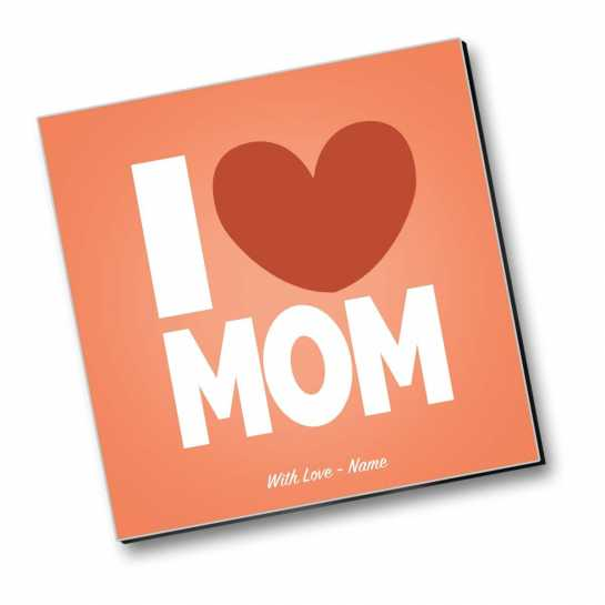 Love You Mom - Personalized Magnet