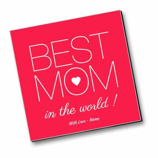 World's Best Mom - Personalized Magnet