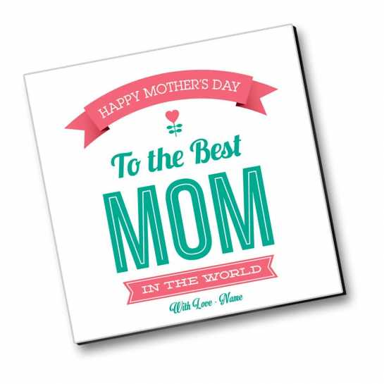 To The Best Mom - Personalized Magnet