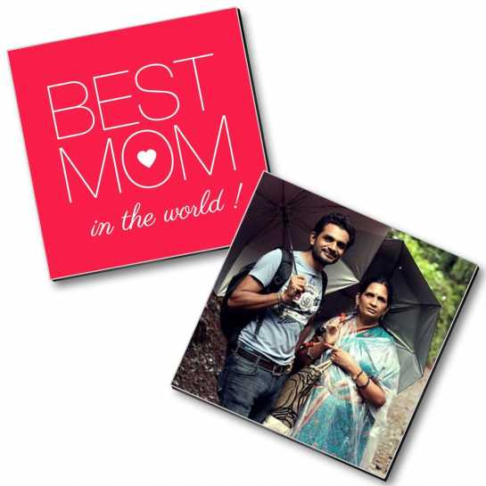 Best Mom In The World - Personalized Magnets (2 pc)