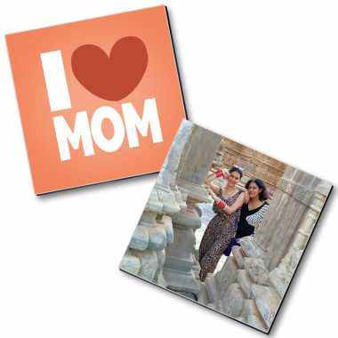 Love You Mom - Personalized Magnets (2 pc)