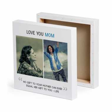Love You Mom - Personalized Canvas