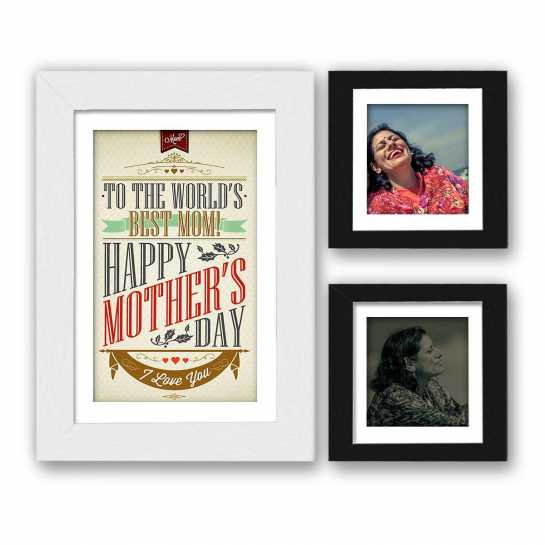 Mothers day photo frame set, with printed photos and free shipping.
