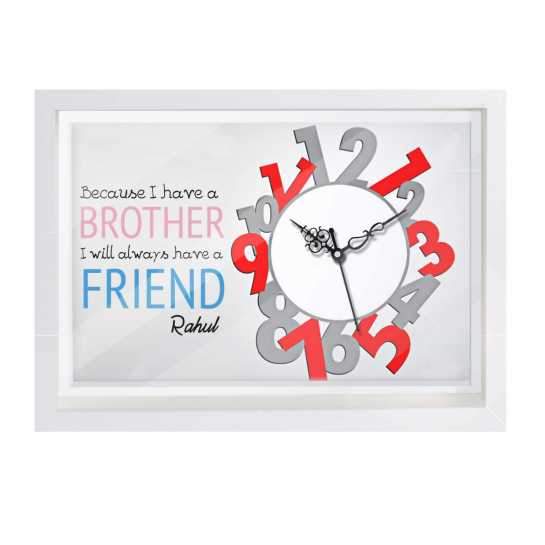 Personalized Canvas Clock for Brother