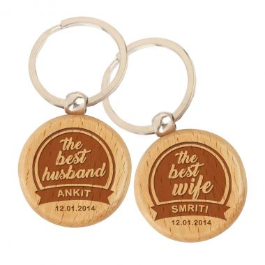 Best Husband and Wife keychain + Coasters