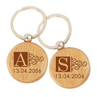 Letter engraved Keychains