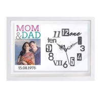 Mom and Dad Photo Wall Clock