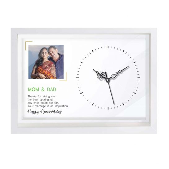 Personalized Clock for Parents Anniversary