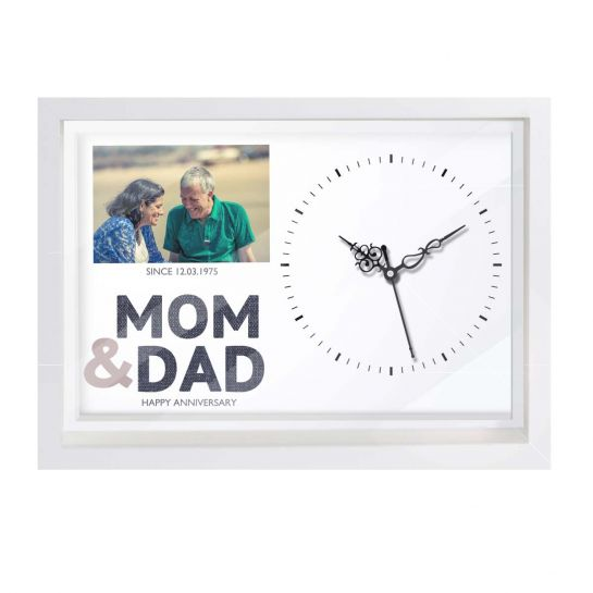 WAll clock for mom dad on anniversary