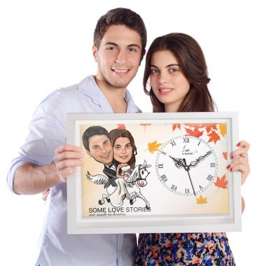 Buy Personalized Caricature Wall Clocks Online | Dezains.com