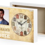 husband photo canvas gift clock