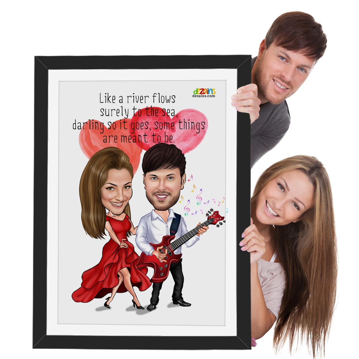 Couple-singing-song-caricature-2-gift-by-dezains