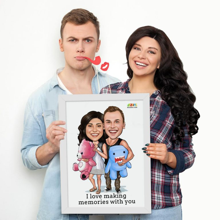 couple-teddy-bear-theme-caricature-by-dezains-1