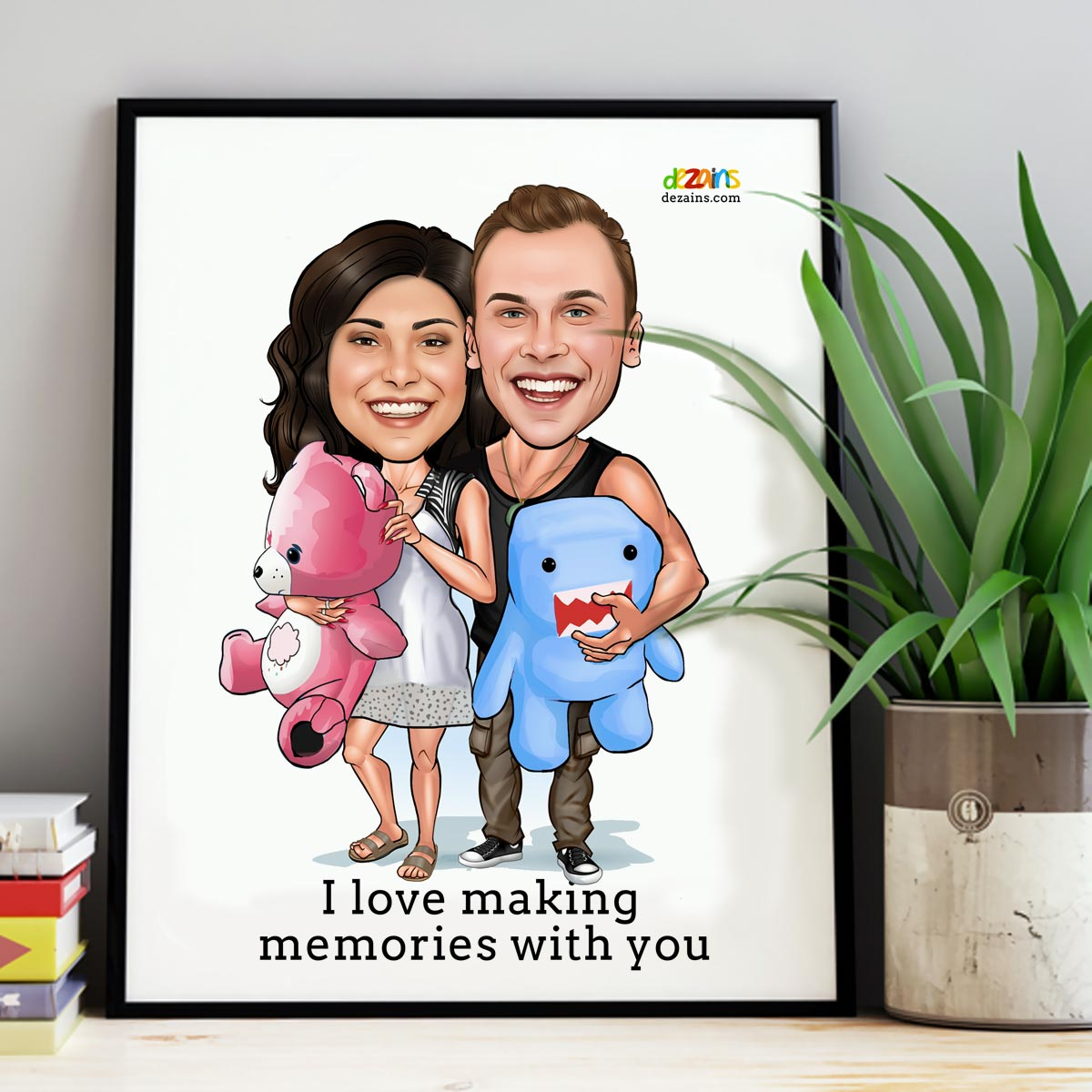 couple-teddy-bear-theme-caricature-by-dezains-2
