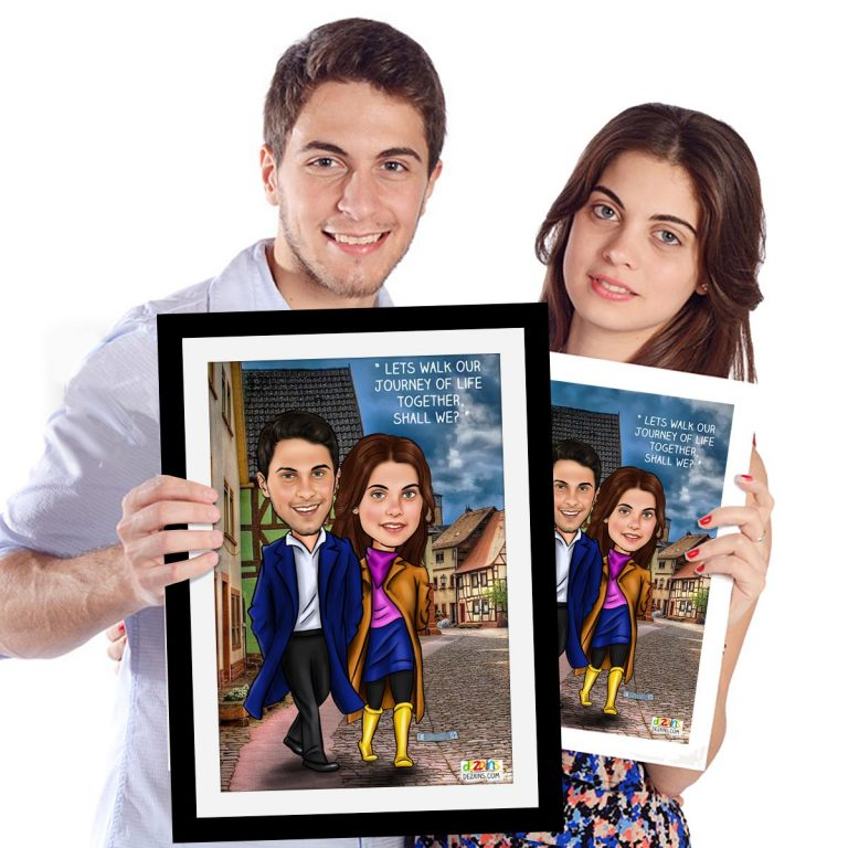 couple-walking-together-caricature-by-dezains-1