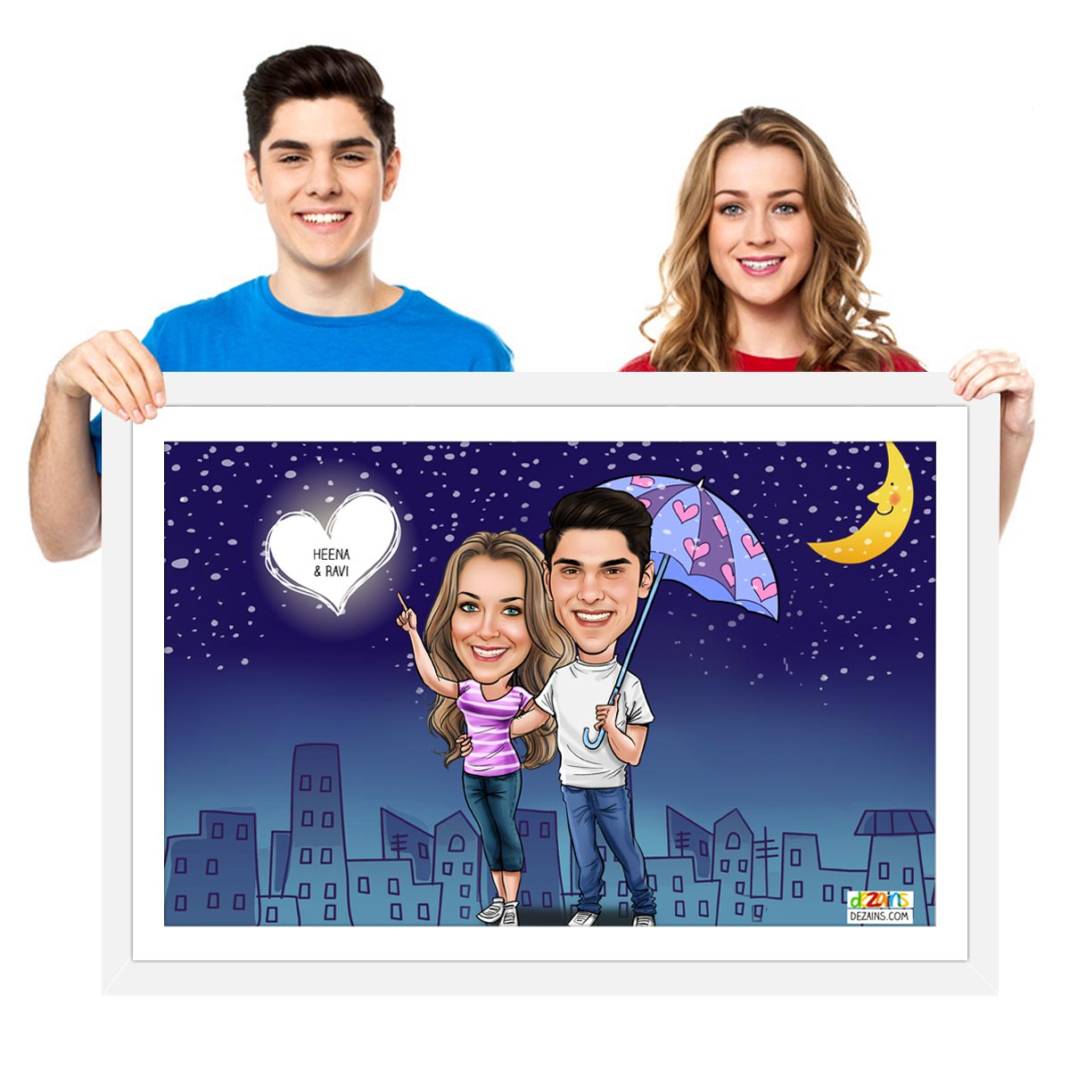 couple-watching-the-night-sky-caricature-frame-by-dezains1