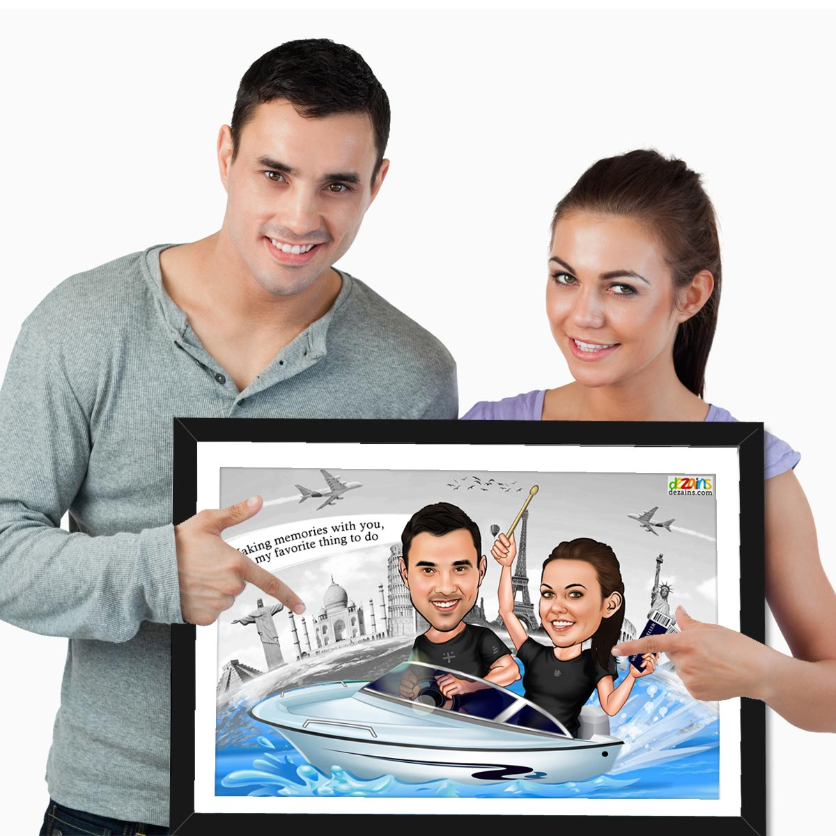 world-traveller-couple-caricature-frame-by-dezains-1