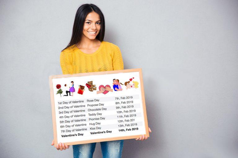 Valentine's Day 2019 Week Dates and Schedule