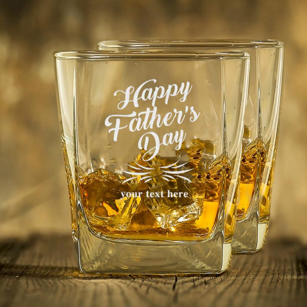 Happy Father's Day Whiskey Glasses