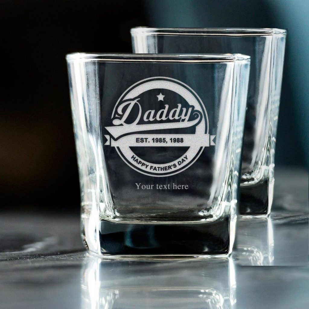Whiskey Glass for Dad on Father's Day